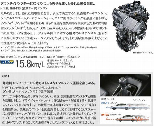 新型カローラ ターボエンジン
